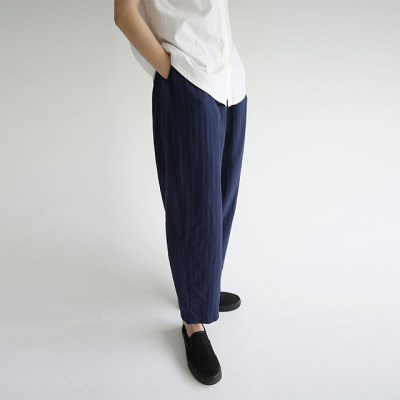 straight cotton easy pants (3colors)_(1299631)