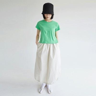 solid cotton texture balloon skirts (3colors)_(1299628)