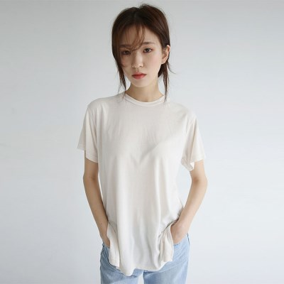 basic cozy simple tee (5colors)_(1299625)