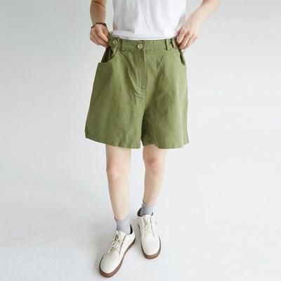 waist button forming cotton pants (4colors)_(1299617)