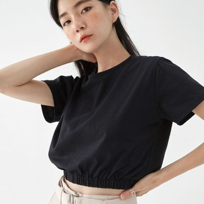 pleate push crop T_(1299249)