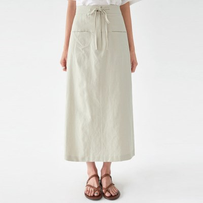 string cotton pocket skirt_(1299238)