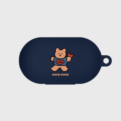 Bear heart-navy(buds jelly case)_(1220755)