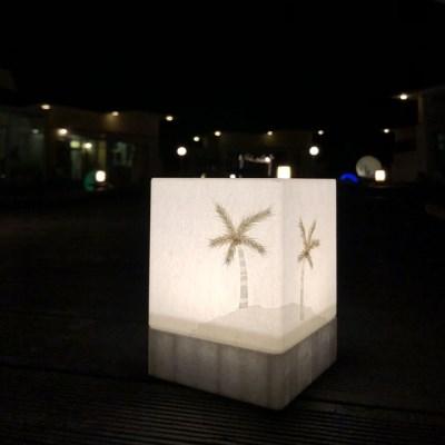 야자수 LED 건전지형 취침등