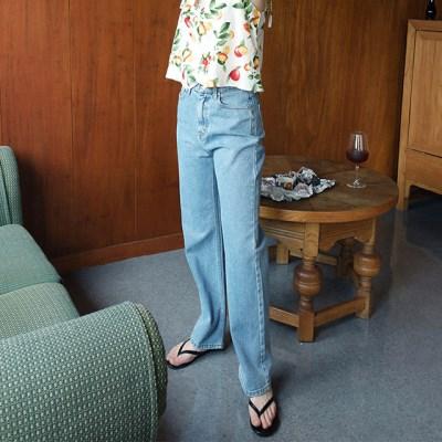 basic straight denim pants_(1302390)