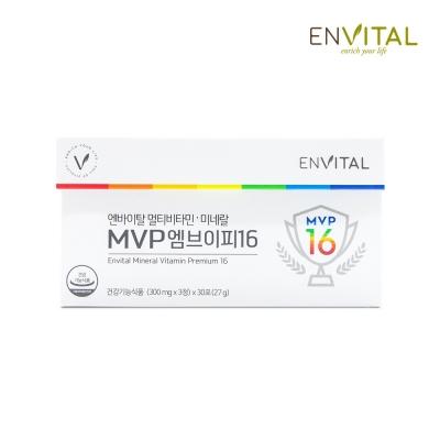 엔바이탈 멀티비타민미네랄 MVP16(1달분/30포)