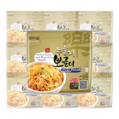 레저식품 누룽지뽀글이 10개세트 전투식량 비상식량 라면밥 간편식사