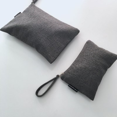 퀼팅 그레이 미니 클러치(Quilting gray mini clutch)
