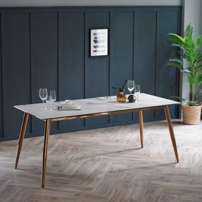 제나 화이트 세라믹 6인용 식탁 테이블 1800_(2110374)
