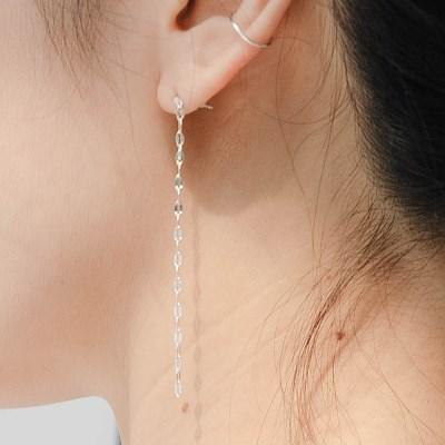 925실버 스팽글 롱 드롭 귀걸이 (SE341 Spangle)