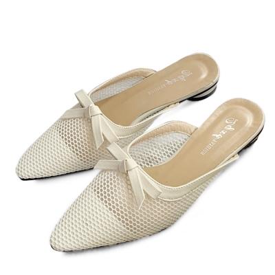 kami et muse Mesh ribbon mule slippers_KM19s321