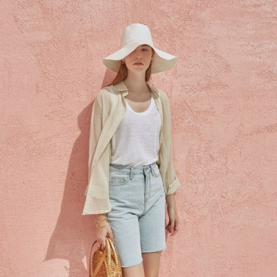 LINEN SEE-THROUGH SH_BEIGE