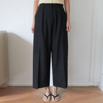 pin basic linen slacks (s, m)_(1304495)