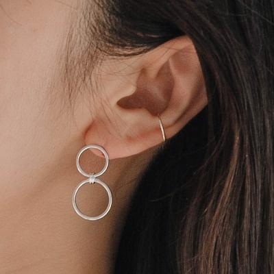 925실버 더블써클 드롭 귀걸이 (SE351 2 Oring Circle)