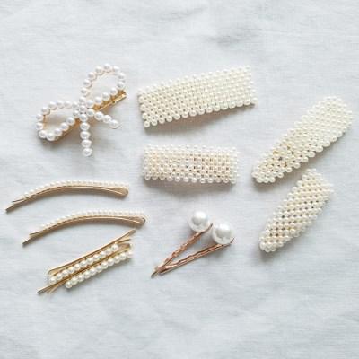 [SET] Pearl Bobby Pins + Flip Clip 11qty