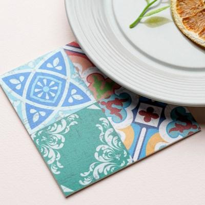 스페인 아다마알마 사각 코스터 - 비다믹스 10x10cm