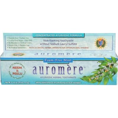 [세븐허브] Auromere 폼프리 치약 + 바질 님나무 비누