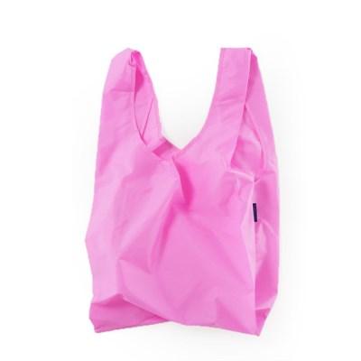 [바쿠백] 휴대용 장바구니 접이식 시장가방 Bright Pink_(1721894)