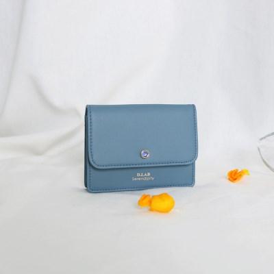 (탄생석지갑) Flor Name Wallet - Blue