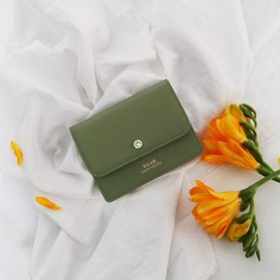 (탄생석지갑) Flor Name Wallet - green