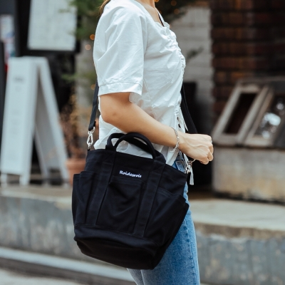 [로아드로아] HOHUM TOTE CROSS BAG (BLACK)_(1097317)