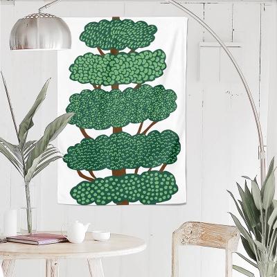 나무 드로잉 패브릭 포스터