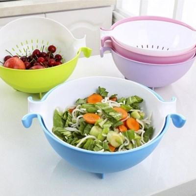 회전볼채반(컬러선택) / 다용도 워싱볼 야채 샐러드 과일 채반