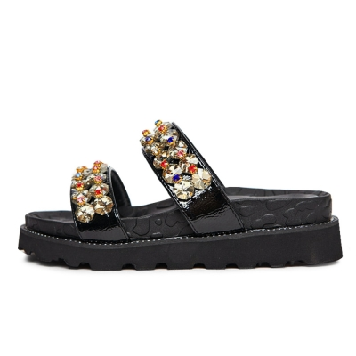 kami et muse Color cubic strap tall up slippers_KM19s336