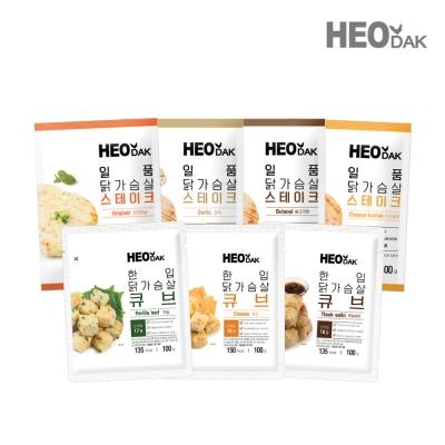 [허닭] 원탑 닭가슴살 패키지 7종 7팩