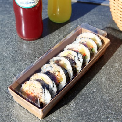 샌드위치 김밥 크라프트 포장 케이스 200*65*35(h)mm (5_(1373328)