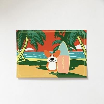 Tropical Corgiman Postcard