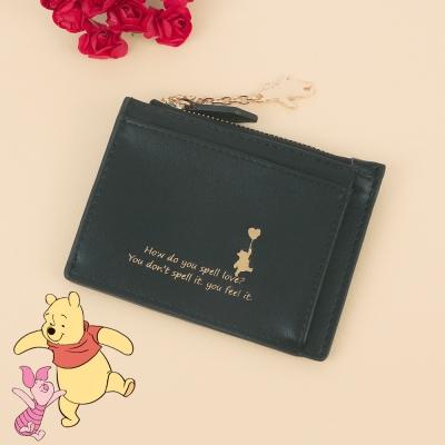 [디즈니X클루] 큐티 곰돌이 푸 블랙 카드지갑 CLAB19831SBP