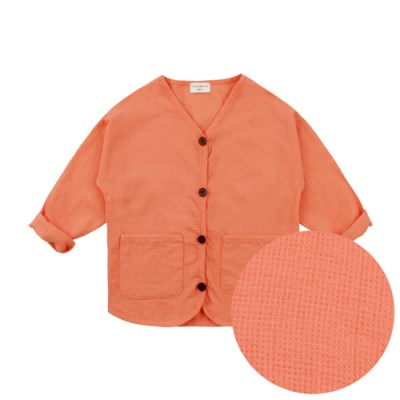 [리틀비티] 썸머 와플 자켓 (오렌지)_(1115715)