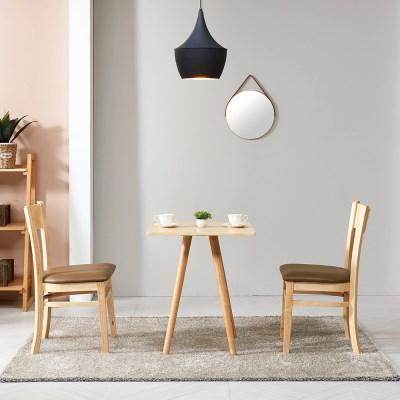 브라우니  2-4인 사각 식탁 티테이블 세트(의자2개포함)