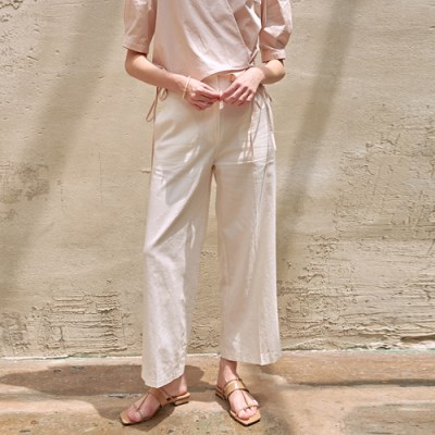 LINEN SPECIAL WIDE PANTS_IVORY