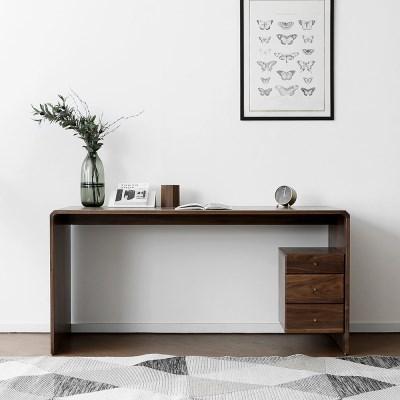 [헤리티지월넛] D형 책상/테이블_(1356791)