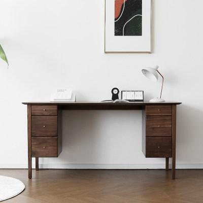 [헤리티지월넛] E형 책상/테이블_(1356790)