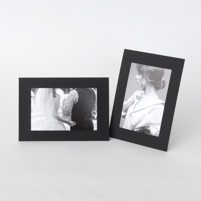 스탠딩 페이퍼프레임 - 4x6 블랙 5매 (종이액자)