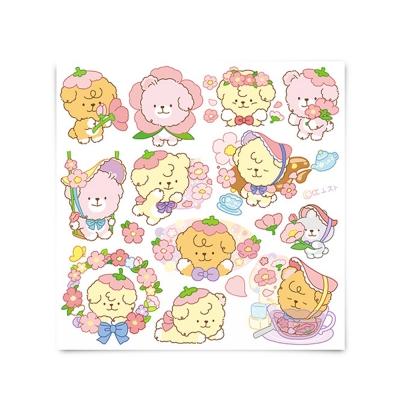 [또자] 벚꽃 댕댕 스티커 (8장)