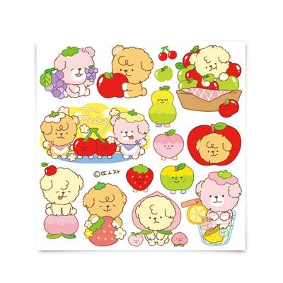 [또자] 과일 댕댕 스티커 (4장+4장)
