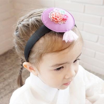 채니봉봉 미리내 한복 머리띠 유아헤어밴드_(951049)