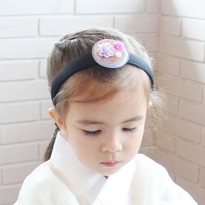 채니봉봉 도담 한복 머리띠 유아헤어밴드_(951048)