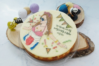 🎉 축하디자인 원형 케이크 3호 (21cm) 🎉
