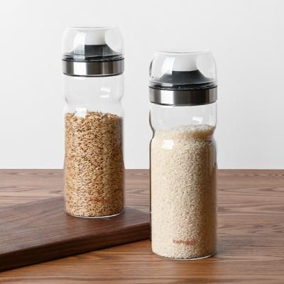 레벤호프 내열유리 밀폐 잡곡통 1.1L 쌀통 곡물통 보관_(1359944)