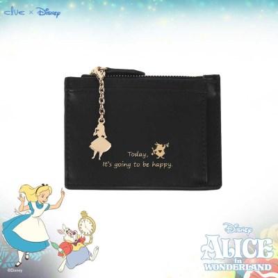 [디즈니X클루] 러블리 앨리스 키링 블랙 카드 지갑 CLAB19841SBP
