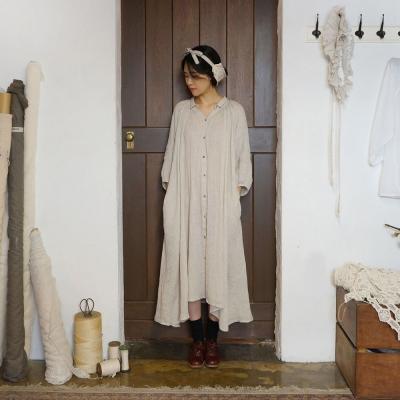 셜 칼라 드레스 : Shirr collar dress