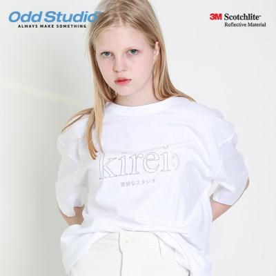 오드스튜디오 키레이 스카치 티셔츠 - WHITE