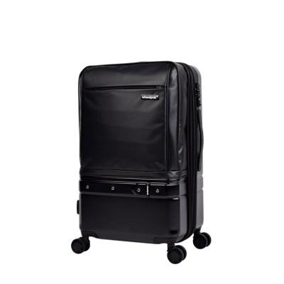 휠팩 모던 확장형 블랙 24인치 캐리어 여행가방
