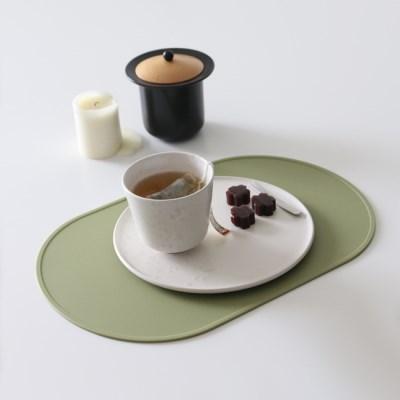 오브 실리콘 식탁매트 - 올리브그린