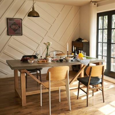[채우리] 픽스 콘크리트 2000 와이드 6인 식탁 테이블